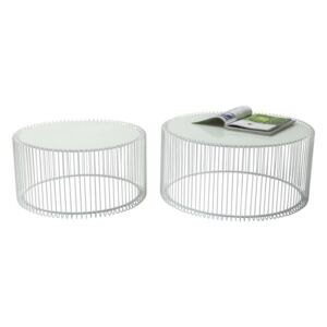 KARE DESIGN Konferenčný stolík Wire White (2 / Set)