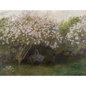 Claude Monet - Reprodukcia, Obraz - Lilacs, Grey Weather, 1872