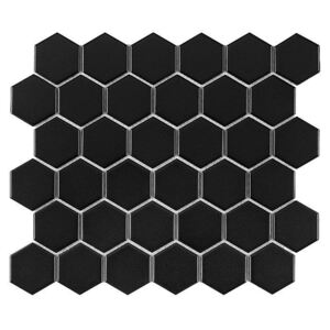 DUNIN - HEXAGON Black 51 MATT (32 x 28cm/1ks)