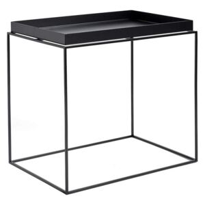HAY Stolík Tray Side Table Rectangular 40x60, black