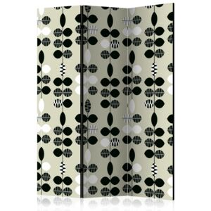 Paraván - Black and White Dots [Room Dividers] 135x172