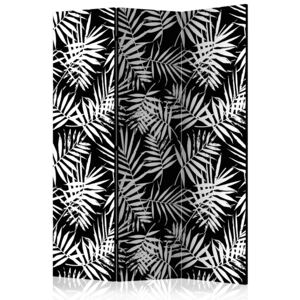 Paraván - Black and White Jungle [Room Dividers] 135x172