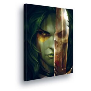 GLIX Obraz na plátne - Marvel Guardians of the Galaxy Mysterious and Murder Gamora 60x40 cm
