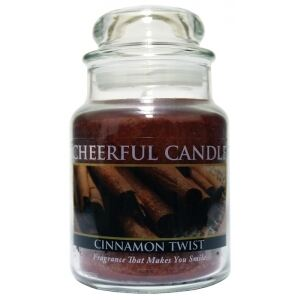 CHEERFUL CANDLE - Škorica - CINNAMON TWIST 170g
