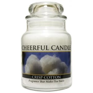 CHEERFUL CANDLE - Svieža bavlna - CRISP COTTON 170g