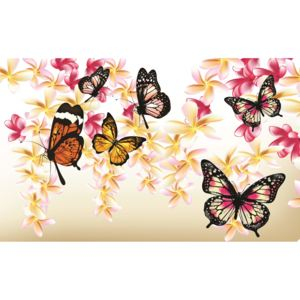 Fototapeta Butterflies on the tree vlies 152,5 x 104 cm