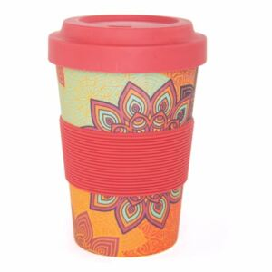 Bodhi Yoga Bodhi Yogi Cup 2 Go Sunflower Orange bambusový pohár 480 ml
