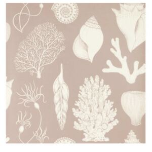 Ferm Living Tapeta Katie Scott Shells, dusty rose