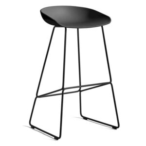 HAY Barová stolička AAS 38 High Black Powder Coated Steel, black