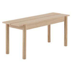 Muuto Lavica Linear Wood Bench 110 cm