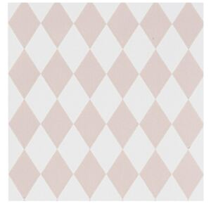 Ferm Living Tapeta Harlequin, rose