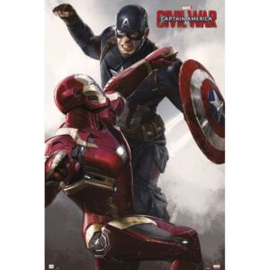 Plagát, Obraz - Captain America: Civil War - Cap VS Iron Man, (61 x 91,5 cm)