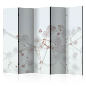 Paraván - White Flowers II [Room Dividers] 225x172