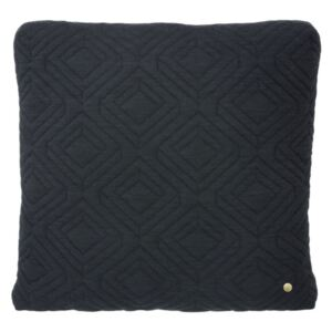Ferm Living Vankúš Quilt Cushion 45x45, Dark Grey