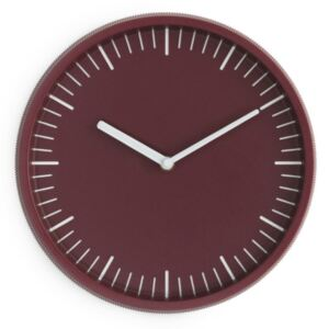Normann Copenhagen Hodiny Day Wall Clock, dark red