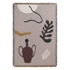 Ferm Living Deka Mirage Blanket, grey