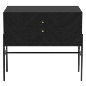 Bolia Komoda Luxe 2 drawers low, black stained oak