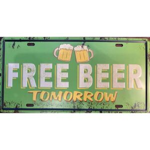 Ceduľa Free Beer Tomorrow