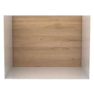Ethnicraft Polica U shelf S, oak/white