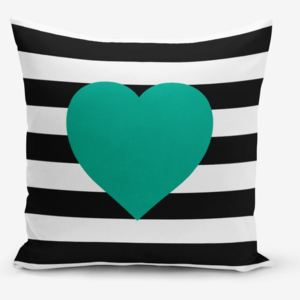 Obliečka na vaknúš s prímesou bavlny Minimalist Cushion Covers Striped Green, 45 × 45 cm
