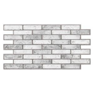 3D PVC obklad Brick Grey (970 x 500 mm - 0,49 m2)