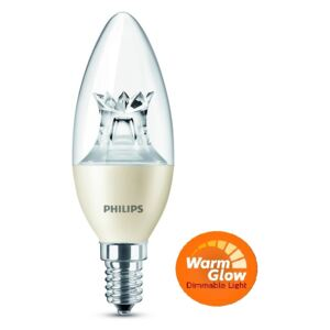 Philips LED žiarovka 6W/40W E14 WW B38 CL WGD candle lotus