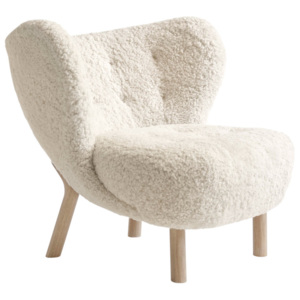 &Tradition Kreslo Little Petra VB1, oak / sheepskin