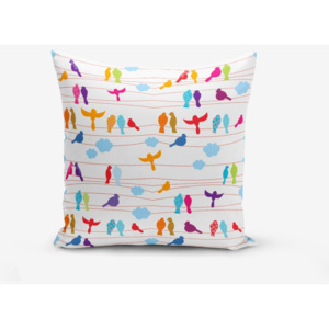 Obliečka na vankúš s prímesou bavlny Minimalist Cushion Covers Colorful Bird, 45 × 45 cm