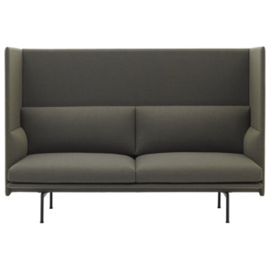 Muuto Dvojmiestna pohovka Outline High Back, Fiord 961