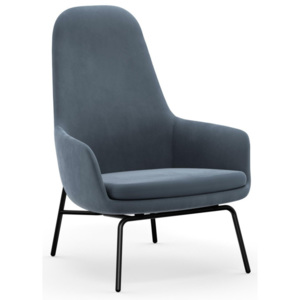 Normann Copenhagen Kreslo Era Lounge, Steel City Velvet, high