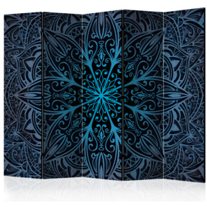 Paraván - Feathers (Blue) II [Room Dividers] 225x172
