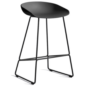 HAY Barová stolička AAS 38 Low Black Powder Coated Steel, black
