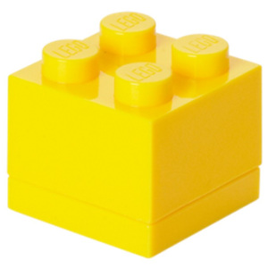 Žltý úložný box LEGO® Mini Box Yellow