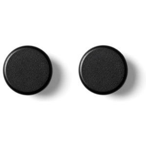 Menu Vešiačiky Knobs, set 2ks, black