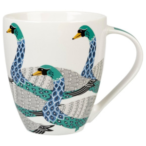 Hrnček z kostného porcelánu Churchill China Geometric Swans, 500 ml