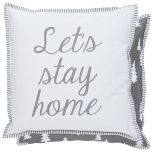 Clayre & Eef Povlak na vankúš Let´s Stay Home - 40*40 cm
