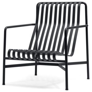 HAY Stolička Palissade Lounge Chair High, anthracite