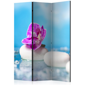 Paraván - Pink Orchid and white Zen Stones [Room Dividers] 135x172 7-10 dní