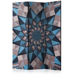Paraván - Star Mandala (Brown-Blue) [Room Dividers] 135x172