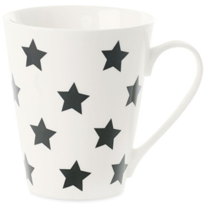 Porcelánový hrnček Miss Étoile Coffee Black Stars