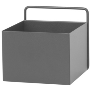 Ferm Living Nástenný box Wall Box Square, black