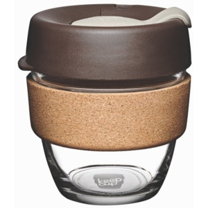 Cestovný hrnček s viečkom KeepCup Brew Cork Edition Almond, 227 ml