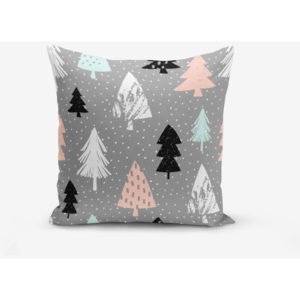 Obliečka na vankúš s prímesou bavlny Minimalist Cushion Covers Grey Background Agac, 45 × 45 cm