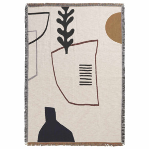 Ferm Living Deka Mirage Blanket, off white