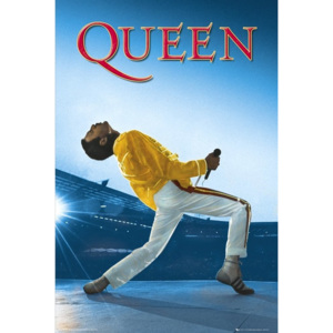 Plagát, Obraz - Queen - Live At Wembley, (61 x 91,5 cm)