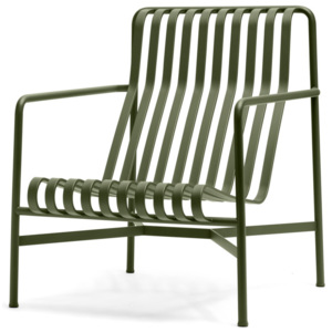HAY Stolička Palissade Lounge Chair High, olive