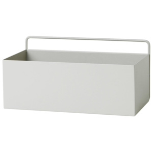 Ferm Living Nástenný box Wall Box Rectangle, light grey