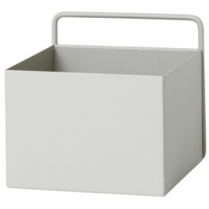 Ferm Living Nástenný box Wall Box Square, light grey