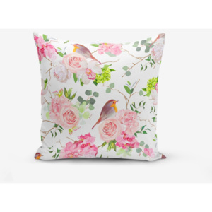 Obliečka na vankúš s prímesou bavlny Minimalist Cushion Covers Colorful Bird Duro, 45 × 45 cm