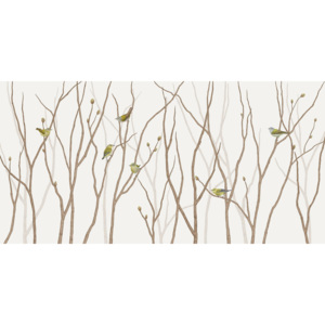 TENNESSEE WARBLER ON TWIG – 150 x 75 cm